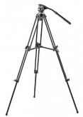 Zeer stabiel videostatief met anti-vibratie poten en soepel draaiende vloeistof-gedempte panoramakop. Max hoogte 133 cm.