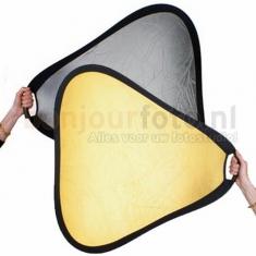 BonjourFoto ValuLine Reflector Goud/Zilver met Grip 60 cm