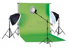 Falcon Eyes Greenscreen Set Extralarge Pro