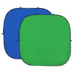 BonjourFoto XXL Opvouwbare Achtergrond Groen/Blauw 240x240cm