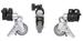 Falcon Eyes PCA-19M Statiefwielen 3 stuks (19 mm)