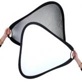 BonjourFoto ValuLine Reflector Zilver/Wit met Grip  60 cm