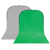 BonjourFoto ValuLine Opvouwbare Achtergrond Grijs/Groen 4 x 1,5m