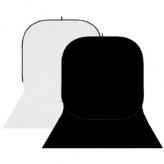 BonjourFoto ValuLine Opvouwbare Achtergrond Wit/Zwart 4 x 1,5m