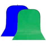 BonjourFoto ValuLine Opvouwbare Achtergrond Groen/Blauw 4 x 1,5m