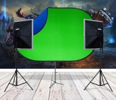 BonjourFoto Youtube Gamer-Kit Pro (Softboxen & Greenscreen Set)