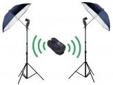 Falcon Eyes Strobist Doublepack Wireless Wit voor Canon