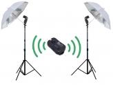 Falcon Eyes Strobist Doublepack Wireless Zilver voor Sony